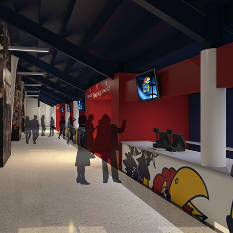 Allen Fieldhouse 3rd Level Concourse