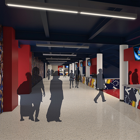Allen Fieldhouse 2nd Level Concourse